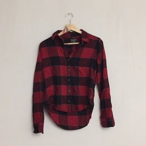 Abercrombie Fitch Red Plaid